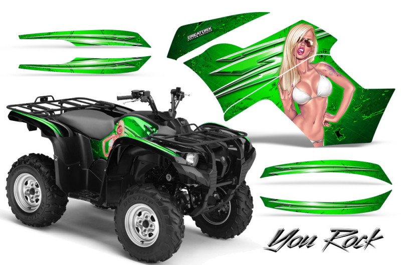 Yamaha-Grizzly-700-CreatorX-Graphics-Kit-You-Rock-Green