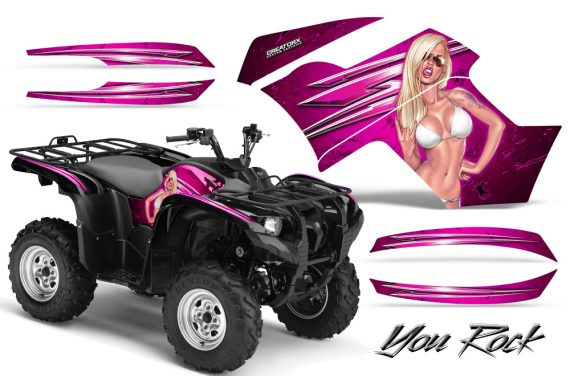 Yamaha Grizzly 700 CreatorX Graphics Kit You Rock Pink 570x376 - Yamaha Grizzly 700/550 Graphics