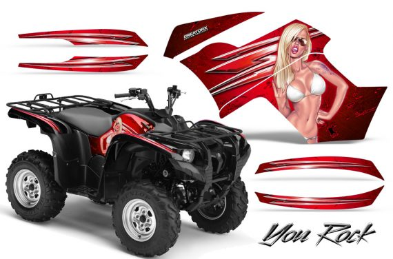 Yamaha Grizzly 700 CreatorX Graphics Kit You Rock Red 570x376 - Yamaha Grizzly 700/550 Graphics