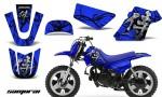 Yamaha PW 50 CreatorX Graphics Kit Samurai Black Blue BLB 150x90 - Yamaha PW50 1990-2016 Graphics