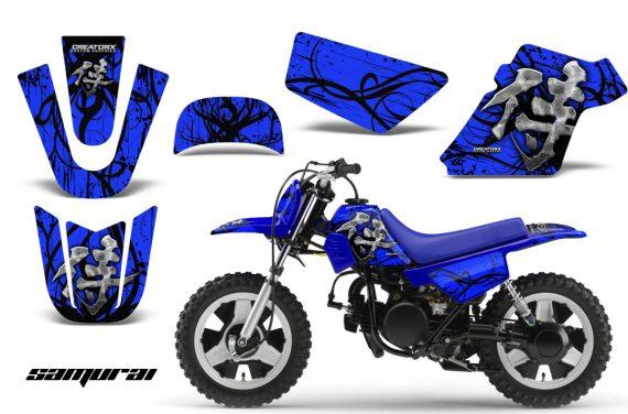 Yamaha PW 50 CreatorX Graphics Kit Samurai Black Blue BLB 570x376 - Yamaha PW50 1990-2016 Graphics
