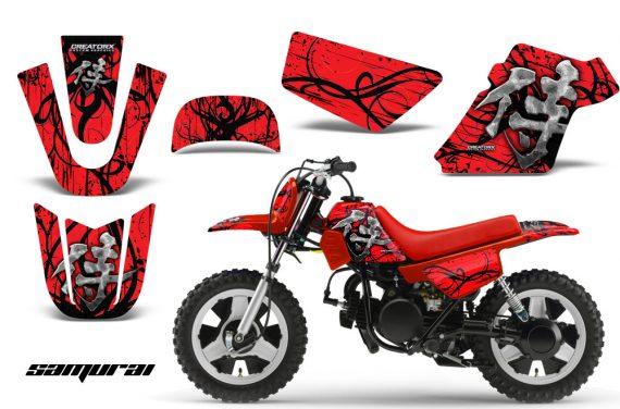 Yamaha PW 50 CreatorX Graphics Kit Samurai Black Red RB 570x376 - Yamaha PW50 1990-2016 Graphics