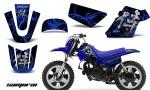 Yamaha PW 50 CreatorX Graphics Kit Samurai Blue Black BLB 150x90 - Yamaha PW50 1990-2016 Graphics