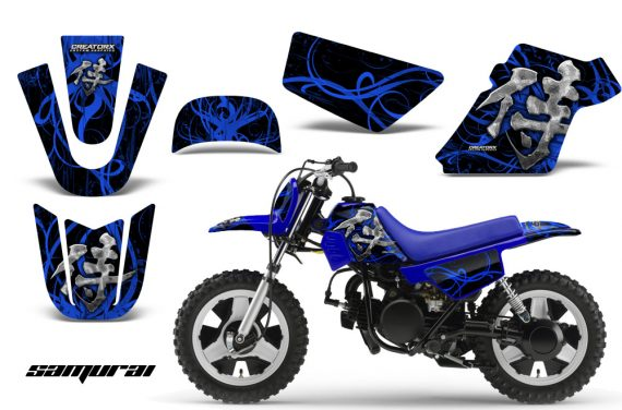 Yamaha PW 50 CreatorX Graphics Kit Samurai Blue Black BLB 570x376 - Yamaha PW50 1990-2016 Graphics