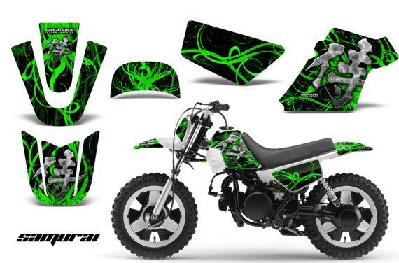 Yamaha PW 50 CreatorX Graphics Kit Samurai Green Black WB 570x376 - Yamaha PW50 1990-2016 Graphics