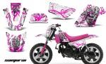Yamaha PW 50 CreatorX Graphics Kit Samurai Pink White PB 150x90 - Yamaha PW50 1990-2016 Graphics
