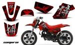 Yamaha PW 50 CreatorX Graphics Kit Samurai Red Black RB 150x90 - Yamaha PW50 1990-2016 Graphics