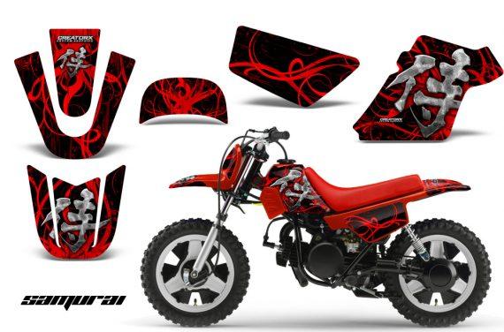 Yamaha PW 50 CreatorX Graphics Kit Samurai Red Black RB 570x376 - Yamaha PW50 1990-2016 Graphics