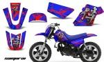 Yamaha PW 50 CreatorX Graphics Kit Samurai Red Blue BLB 150x90 - Yamaha PW50 1990-2016 Graphics