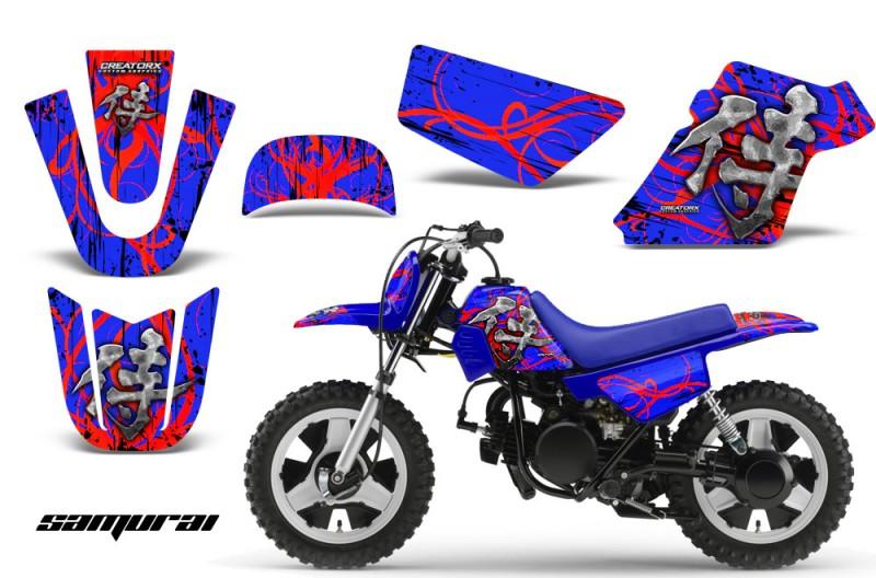 Yamaha-PW-50-CreatorX-Graphics-Kit-Samurai-Red-Blue-BLB