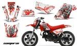 Yamaha PW 50 CreatorX Graphics Kit Samurai Red White RB 150x90 - Yamaha PW50 1990-2016 Graphics