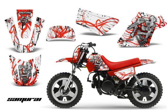 Yamaha PW 50 CreatorX Graphics Kit Samurai Red White RB 570x376 - Yamaha PW50 1990-2016 Graphics