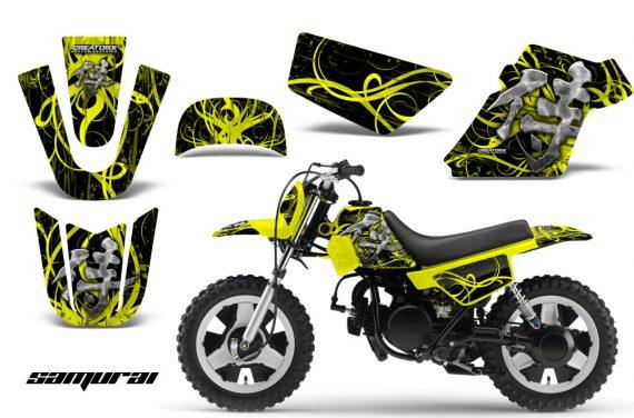 Yamaha PW 50 CreatorX Graphics Kit Samurai Yellow Black YB 570x376 - Yamaha PW50 1990-2016 Graphics