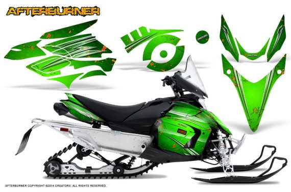 Yamaha Phazer CreatorX Graphics Kit Kit Afterburner Green 570x376 - Yamaha Phazer RTX GT 2007-2014 Graphics