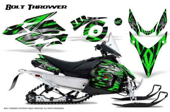 Yamaha Phazer CreatorX Graphics Kit Kit Bolt Thrower Green 570x376 - Yamaha Phazer RTX GT 2007-2014 Graphics