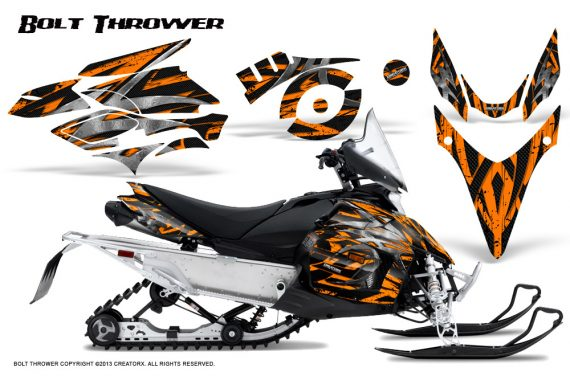 Yamaha Phazer CreatorX Graphics Kit Kit Bolt Thrower Orange 570x376 - Yamaha Phazer RTX GT 2007-2014 Graphics