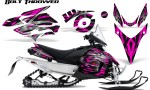 Yamaha Phazer CreatorX Graphics Kit Kit Bolt Thrower Pink 150x90 - Yamaha Phazer RTX GT 2007-2014 Graphics