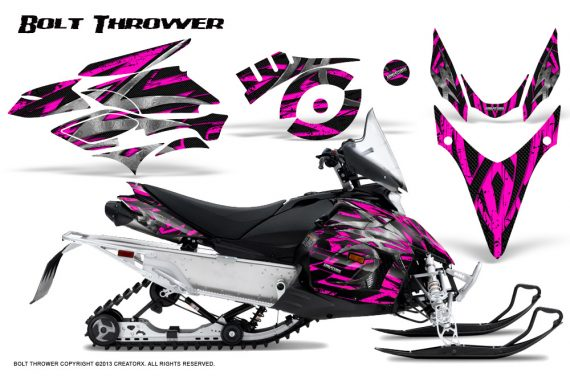 Yamaha Phazer CreatorX Graphics Kit Kit Bolt Thrower Pink 570x376 - Yamaha Phazer RTX GT 2007-2014 Graphics