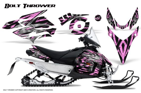 Yamaha Phazer CreatorX Graphics Kit Kit Bolt Thrower PinkLite 570x376 - Yamaha Phazer RTX GT 2007-2014 Graphics