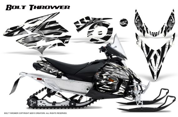 Yamaha Phazer CreatorX Graphics Kit Kit Bolt Thrower White 570x376 - Yamaha Phazer RTX GT 2007-2014 Graphics