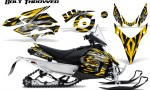 Yamaha Phazer CreatorX Graphics Kit Kit Bolt Thrower Yellow 150x90 - Yamaha Phazer RTX GT 2007-2014 Graphics