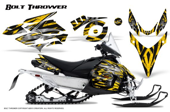 Yamaha Phazer CreatorX Graphics Kit Kit Bolt Thrower Yellow 570x376 - Yamaha Phazer RTX GT 2007-2014 Graphics
