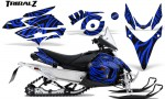 Yamaha Phazer CreatorX Graphics Kit TribalZ Blue 150x90 - Yamaha Phazer RTX GT 2007-2014 Graphics