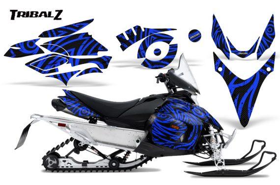 Yamaha Phazer CreatorX Graphics Kit TribalZ Blue 570x376 - Yamaha Phazer RTX GT 2007-2014 Graphics