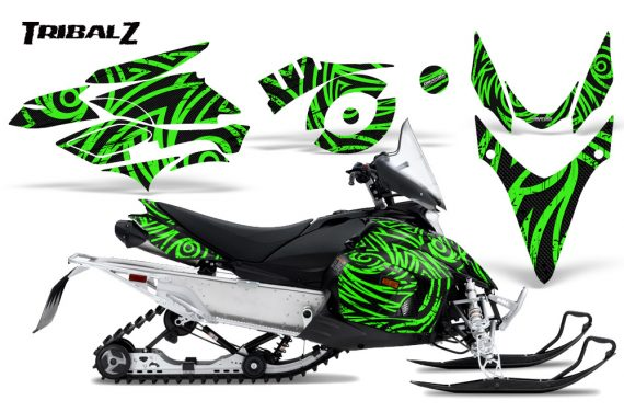 Yamaha Phazer CreatorX Graphics Kit TribalZ Green 570x376 - Yamaha Phazer RTX GT 2007-2014 Graphics