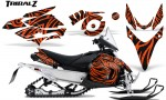 Yamaha Phazer CreatorX Graphics Kit TribalZ Orange 150x90 - Yamaha Phazer RTX GT 2007-2014 Graphics