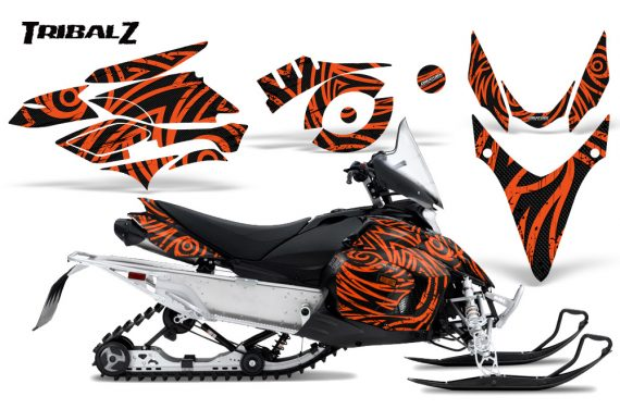 Yamaha Phazer CreatorX Graphics Kit TribalZ Orange 570x376 - Yamaha Phazer RTX GT 2007-2014 Graphics