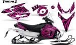 Yamaha Phazer CreatorX Graphics Kit TribalZ Pink 150x90 - Yamaha Phazer RTX GT 2007-2014 Graphics