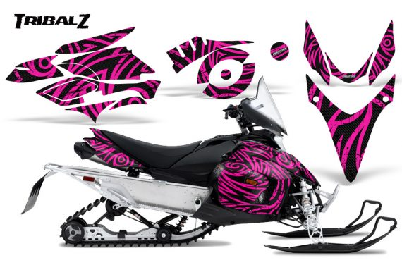Yamaha Phazer CreatorX Graphics Kit TribalZ Pink 570x376 - Yamaha Phazer RTX GT 2007-2014 Graphics