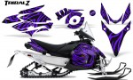 Yamaha Phazer CreatorX Graphics Kit TribalZ Purple 150x90 - Yamaha Phazer RTX GT 2007-2014 Graphics
