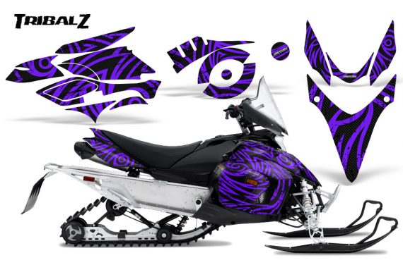 Yamaha Phazer CreatorX Graphics Kit TribalZ Purple 570x376 - Yamaha Phazer RTX GT 2007-2014 Graphics