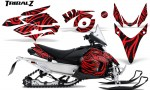Yamaha Phazer CreatorX Graphics Kit TribalZ Red 150x90 - Yamaha Phazer RTX GT 2007-2014 Graphics