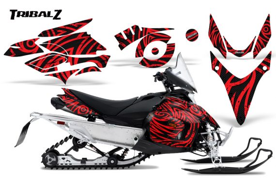 Yamaha Phazer CreatorX Graphics Kit TribalZ Red 570x376 - Yamaha Phazer RTX GT 2007-2014 Graphics