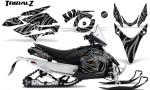 Yamaha Phazer CreatorX Graphics Kit TribalZ Silver 150x90 - Yamaha Phazer RTX GT 2007-2014 Graphics