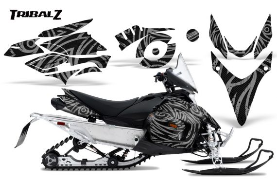Yamaha Phazer CreatorX Graphics Kit TribalZ Silver 570x376 - Yamaha Phazer RTX GT 2007-2014 Graphics