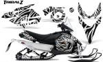 Yamaha Phazer CreatorX Graphics Kit TribalZ White 150x90 - Yamaha Phazer RTX GT 2007-2014 Graphics