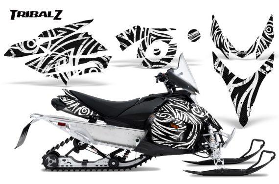 Yamaha Phazer CreatorX Graphics Kit TribalZ White 570x376 - Yamaha Phazer RTX GT 2007-2014 Graphics