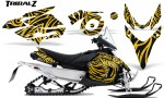 Yamaha Phazer CreatorX Graphics Kit TribalZ Yellow 150x90 - Yamaha Phazer RTX GT 2007-2014 Graphics