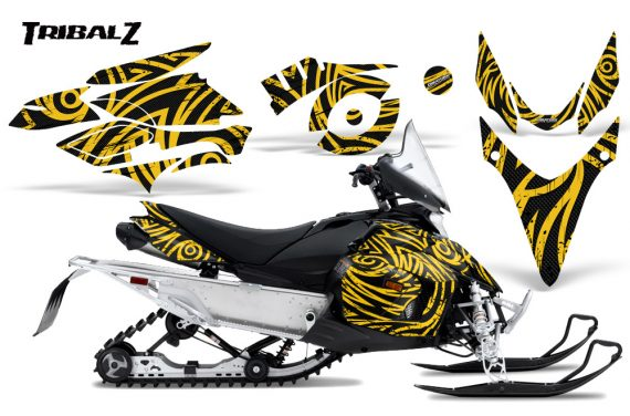 Yamaha Phazer CreatorX Graphics Kit TribalZ Yellow 570x376 - Yamaha Phazer RTX GT 2007-2014 Graphics