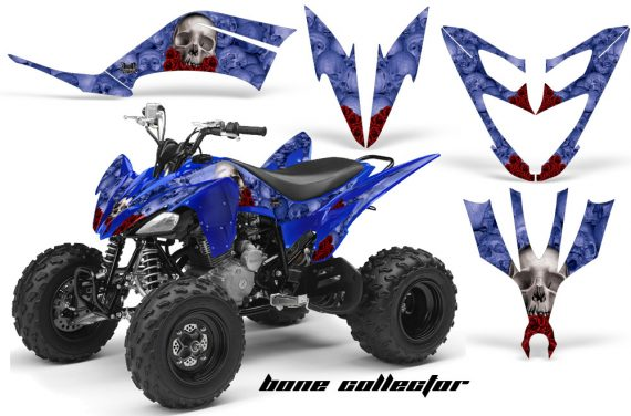 Yamaha Raptor 250 AMR Graphics BoneCollector Blue 570x376 - Yamaha Raptor 250 Graphics