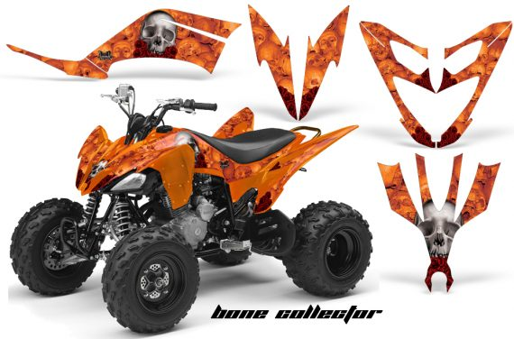 Yamaha Raptor 250 AMR Graphics BoneCollector Orange 570x376 - Yamaha Raptor 250 Graphics