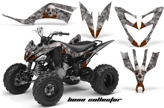 Yamaha Raptor 250 AMR Graphics BoneCollector Silver OrangeRose 570x376 - Yamaha Raptor 250 Graphics