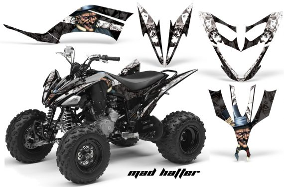 Yamaha Raptor 250 AMR Graphics MadHatter BlackWhitestripe 570x376 - Yamaha Raptor 250 Graphics