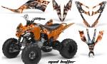 Yamaha Raptor 250 AMR Graphics MadHatter OrangeSilverstripe 150x90 - Yamaha Raptor 250 Graphics