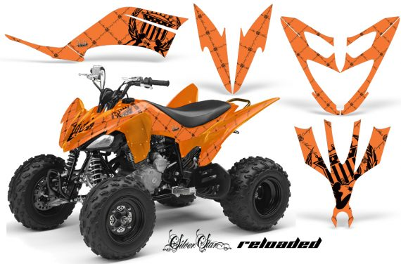 Yamaha Raptor 250 AMR Graphics Reloaded BlackOrangeBG 570x376 - Yamaha Raptor 250 Graphics