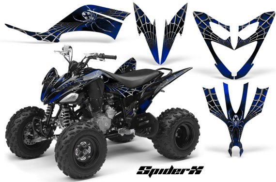 Yamaha Raptor 250 CreatorX Graphics Kit SpiderX Blue 570x376 - Yamaha Raptor 250 Graphics